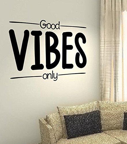 spb87 Good Vibes Only-Heart Happy Life Family Kids Home Zitat Wand Vinyl Aufkleber Aufkleber Art Decor DIY -