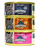 Blue Buffalo Wilderness Grain-Free Wet Cat Food Variety Box - 3 Flavors (Salmon, Turkey, and Chicken) - 12 (5.5 Ounce) Cans - 4 of Each Flavor by BLUE WILDERNESS