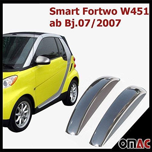 Smart-Fortwo-W451-ab-Bj072007-Chrom-Trgriffe-Edelstahl-Abdeckungen-Blenden