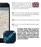 musegear Schlüsselfinder (dunkelblau) | Einfach per kostenloser App (iPhone & Android) alles wiederfinden | Ultimatives Handy Gadget als Schlüsselanhänger oder Auto-Zubehör Accessoire - 6