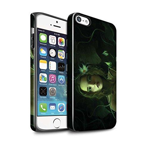 Officiel Elena Dudina Coque / Brillant Robuste Antichoc Etui pour Apple iPhone 5/5S / Poussière de Lutin Design / Un avec la Nature Collection Bain Caché
