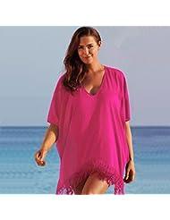 Goodid camisa de tallas grandes para bikini (rojo, XL)