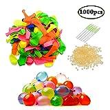 Swallowzy Magic Water Balloons, Globos de Agua, Bombas de Agua, Incluye 1000 Globos, 1000 Bandas de Goma y 5 aplicadores de Juguete