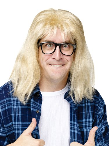 Wayne's World Garth Algar Blonde WIg for Men