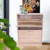Anaelle-Pandamoto-Meuble--Chaussures-Rangement-en-Bois-avec-2-Tiroirs-sur-Salle-de-bain-Sjour-et-Chambre--Coucher-Taille806024cm-Poids-16kg