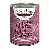 HerzensHund Wildkekse - Bio-Weizenmehl, Bio-Reismehl, Wildfleisch, Bio-Sonnenblumenöl, 6er Pack (6 x 270 g)