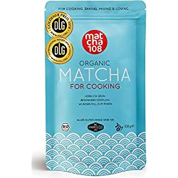 Bio Matcha Tee for Cooking - 108g GASTRO STARTER ideal für Smoothies, Lattes, zum Kochen & Backen - Bio Grüntee Pulver Culinary Grade - by Matcha 108