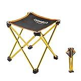 Overmont chaise banc Équipement Seat carré Portable Camping Loisirs Banc de Pêche Banc Pliant(Taille :25x25x28cm) orange