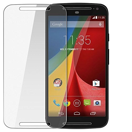 Motorola Moto G3 & Moto G Turbo Combo of Back Cover + Tempered Glass – Black Back Cover and Tempered Glass Screen Protector