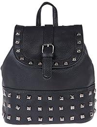 Fur Jaden Women's Backpack Handbag(Black,H291_Black)