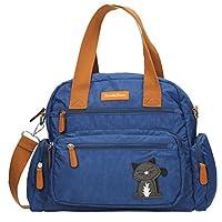 SWANKYSWANS Womens Kempton Multi Zip Lola Cat Motif D Shoulder Bag Dark Blue