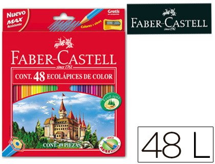Faber-Castell 120148 Pack of 48 Pencils and a Pencil Sharpener