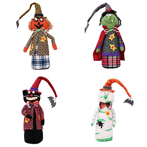 (Halloween Long Hut Figur Dekoration Kürbis Hexe Schwarzen Hut Geist Party 4Er Set)