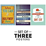 #8: Motivational Posters for Office and Study Room - Set of 3 Inspirational Wall Quotes | Size 12 x 18 Inch