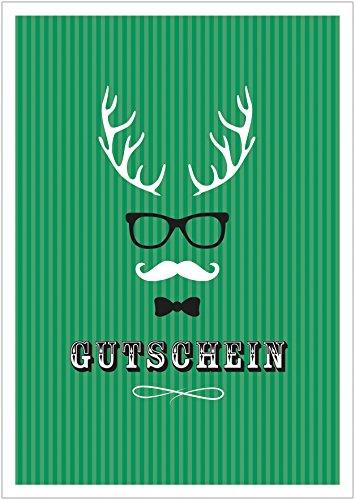 (Erhältlich im 1er 4er 8er Set: Lustiger Weihnachts Gutschein (Klappgrußkarte | Weihnachtskarte | Grußkarte | Glückwunschkarte | Neujahrskarte) im