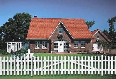 KM MEETH ZAUN GMBH Vierkantpfosten, weiß (9x9 cm) 2 Stk., 90 cm, Länge 90 cm von KM MEETH ZAUN GMBH - Du und dein Garten
