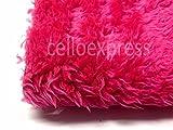 lockiges Tier Fell, Cerise Pink–15mm Flor Hochwertige Teddybär und Stofftieren Stoff Fell, kirsch-pink, 1/2m