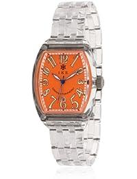 Ike GTO914 - Reloj con correa de caucho para hombre, color naranja / gris
