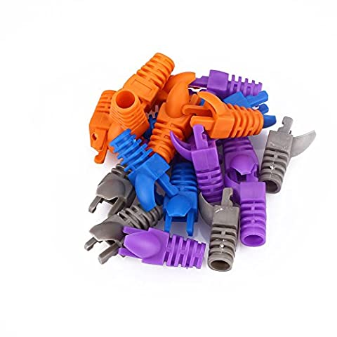 Cewaal 50Pcs Network RJ45 Cable Ends Plug Capot de capot de connecteur Housse de capot Cat5 Cat6 Protector