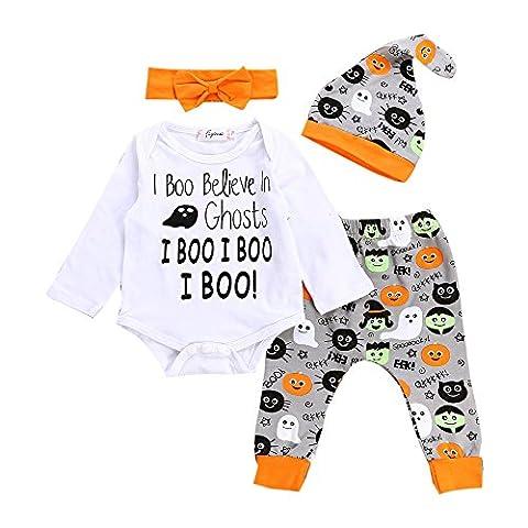 Bébé Halloween - Toamen Bébé Unisexe Enfants Halloween Citrouille imprimées