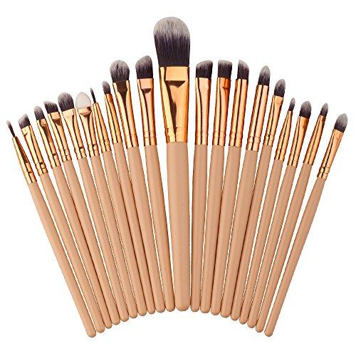 Dosige 20 pcs Set Multifonctionnel Pinceaux Professionnel Pinceaux de Maquillage Yeux Brosse de Brush Cosmétique Professionnel - Or