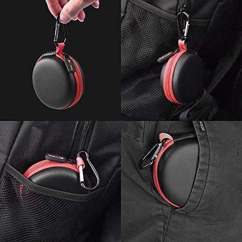 Mini Kopfhörer Tasche mit Schnalle, HiGoing Headset ohrhörer Schutztasche für In Ear Ohrhörer, MP3 Player, iPod Nano, Schlüssel, Lovely Macarons Aussehen (Innenmaß 6.8cm x 6.8cm x 4.0cm) (Rot) - 8
