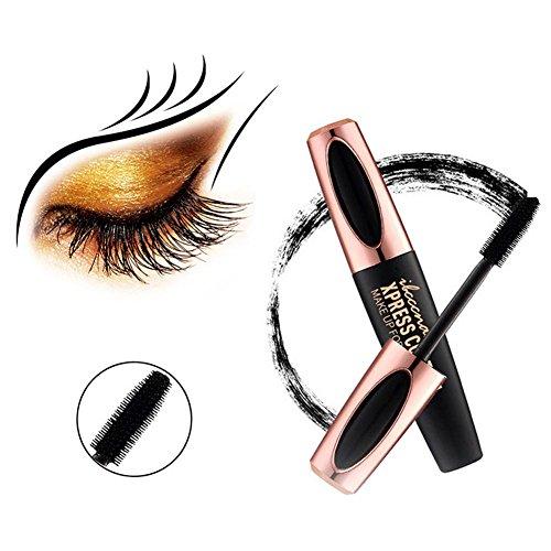 mascara nero impermeabile volume e lunga durata - 4d mascara ciglia fibra di seta naturale non fiorisce, creando occhi affascinanti.