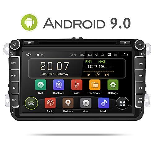 Aumume Android 9.0 Radio de Coche para Volkswagen Golf Passat Polo Tiguan...