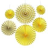 Ventagli di carta colorata Rotella a disco Design del sud-ovest Motivo a tessitura di ventagli di carta velina Decorazione di eventi per feste