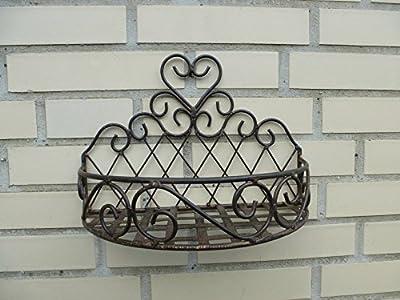 2er Set Wandkorb Korb Hängekorb *Caro* Metall dunkelrostfarben Landhaus-Stil
