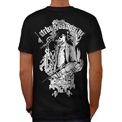 Mob Sexy Kostüme (Städtisch Mafia Cool Gangster Mob Kader Herren M T-shirt Zurück |)
