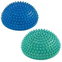 #DoYourFitness 2er-Set Balance-Kugel »Igel« zur Steigerung der Balance/Koordination. Ideal für Balance-Training 320g zirka 8cm hoch und 16cm Durchmesser in blau/türkis