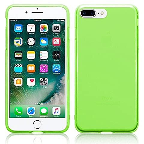 TBOC® Apple iPhone 7 Plus - iPhone 8 Plus (5.5 Inches) Green Ultra Thin TPU Silicone Gel Case Cover Soft Jelly Rubber Skin