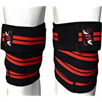 AQF Knee Wraps Weight Lifting Bandage Straps Guard Pads Powerlifting MultiColour