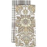 Lauren Ralph Lauren Set von zwei Küche Handtücher, 100 % Baumwolle, Plaid & Flora, 20x30IN / 51x76CM