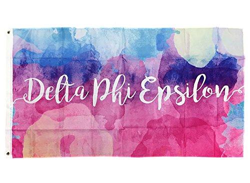 Desert Cactus Delta Phi Epsilon Wasser Farbe Sorority Flagge Griechischen Buchstaben Verwenden als Großes Banner 3x 5Fuß dphie - Sorority Delta Geschenke Delta Delta