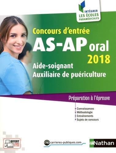 Concours d'entre AS-AP Oral 2018