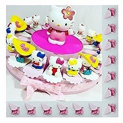 Idea Regalo - Sindy Bomboniere mkm200c Hello Kitty per Battesimo Cresima Comunione, Resina, Rosa, 4.5 x 3.5 x 4.5 cm