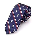 SKNSM Cartoon-Anker der dunkelblauen Männer druckte Mode-Krawatten-Hals-Krawatten-Partei, die Hals-Bindung binden für Männer Bekleidungszubehör (Farbe : Dark Blue, Größe : Einheitsgröße)