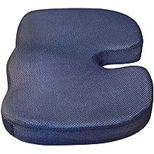 El Cojín tushy: Ergonomic coxis Cojín de asiento con funda extraíble: Mejor asiento de espuma de memoria cojín para coxis y la columna Alivio–Ideal para sillas de oficina, coches, Camión Controladores, asientos de estadio
