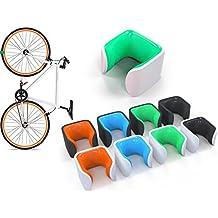 Aparcabicis para bicicletas de carretera fixie CLUG (verde / blanco, Mediana)