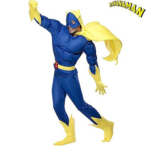 Bananaman Costume for Adults in 4 Sizes