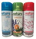 Deodorante spray salvatessuti mangiaodori set 3 bombolette: Deo Natura Artico, Mediterraneo, Oriente Igiensoft igienizzante home professional tarme (per tessuti, tende, scarpe, auto ecc.) 400 ml