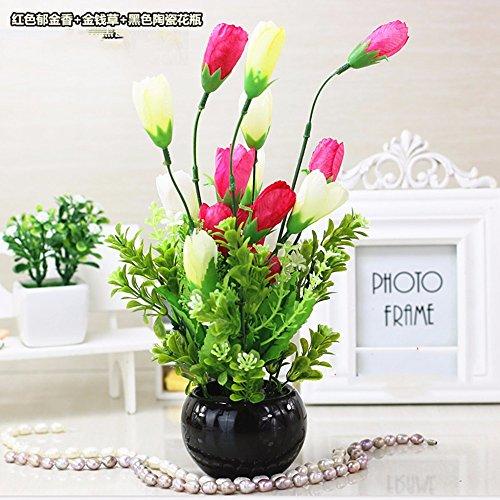 dsaaa-kunstliche-blumen-topfpflanzen-rosa-tulpen-home-hochzeit-dekorative-tisch-floral-keramikvase-k