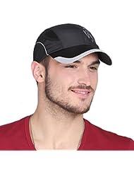 WF:sombrero de las señoras los sombreros de verano gorra de béisbol del visera versión coreana de los hombres de los deportes al aire libre y transpirable casquillo de secado rápido de ocio ( Color : Negro )