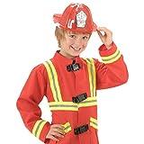 Kinder Feuerwehrhelm Roter Feuerwehr Helm Feuerwehrmann Kinderhelm Schutzhelm Fireman Kopfbedeckung Fasching Kindergeburtstag Verkleidung Uniform Mottoparty Accessoire Karneval Kostüm Zubehör
