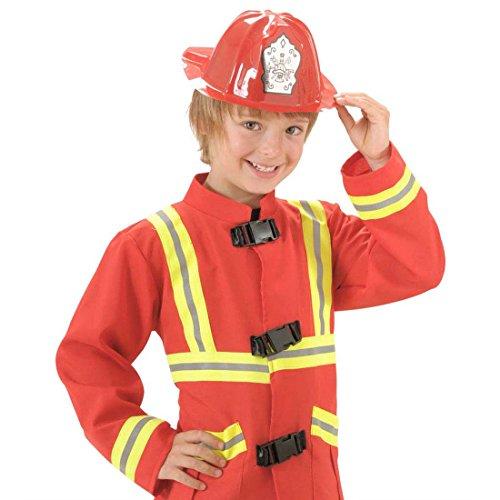 Accessoires Kostüm Feuerwehrmann - Kinder Feuerwehrhelm Roter Feuerwehr Helm Feuerwehrmann Kinderhelm Schutzhelm Fireman Kopfbedeckung Fasching Kindergeburtstag Verkleidung Uniform Mottoparty Accessoire Karneval Kostüm Zubehör