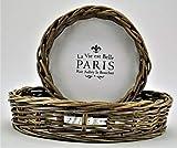 KUHEIGA Tablett rund, Paris aus Rattan, versch. Maße Ø: 36 / 46cm Serviertablett