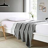 DD RFWEQ ETYU Im europäischen Stil [Stricken] Geometrische 100% Baumwolle Decken - Ein 150 * 200cm (59 x 79 Zoll)