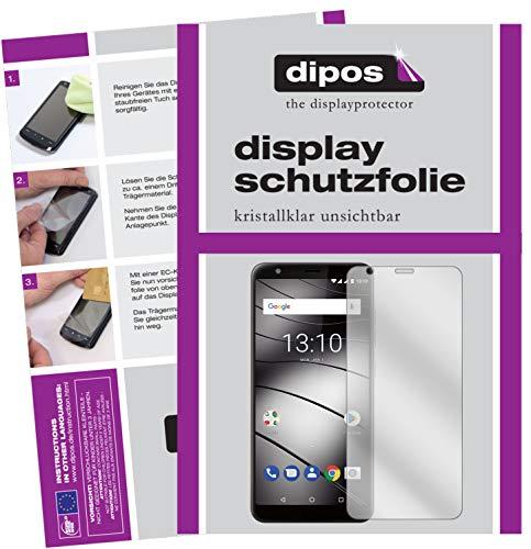dipos I 2X Schutzfolie klar passend für Gigaset GS280 Folie Bildschirmschutzfolie (bewusst Kleiner als das Glas, da Dieses gewölbt ist)